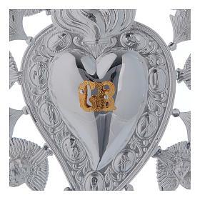 Ex voto Cuore fiamma angelo e decorazioni 13x20 cm s2