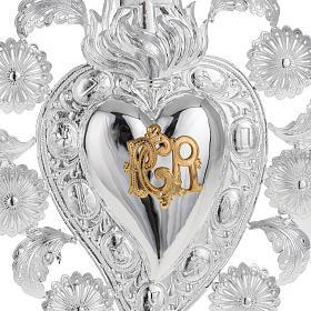 Ex-voto en coeur flamme ange 22.5x34 cm s2