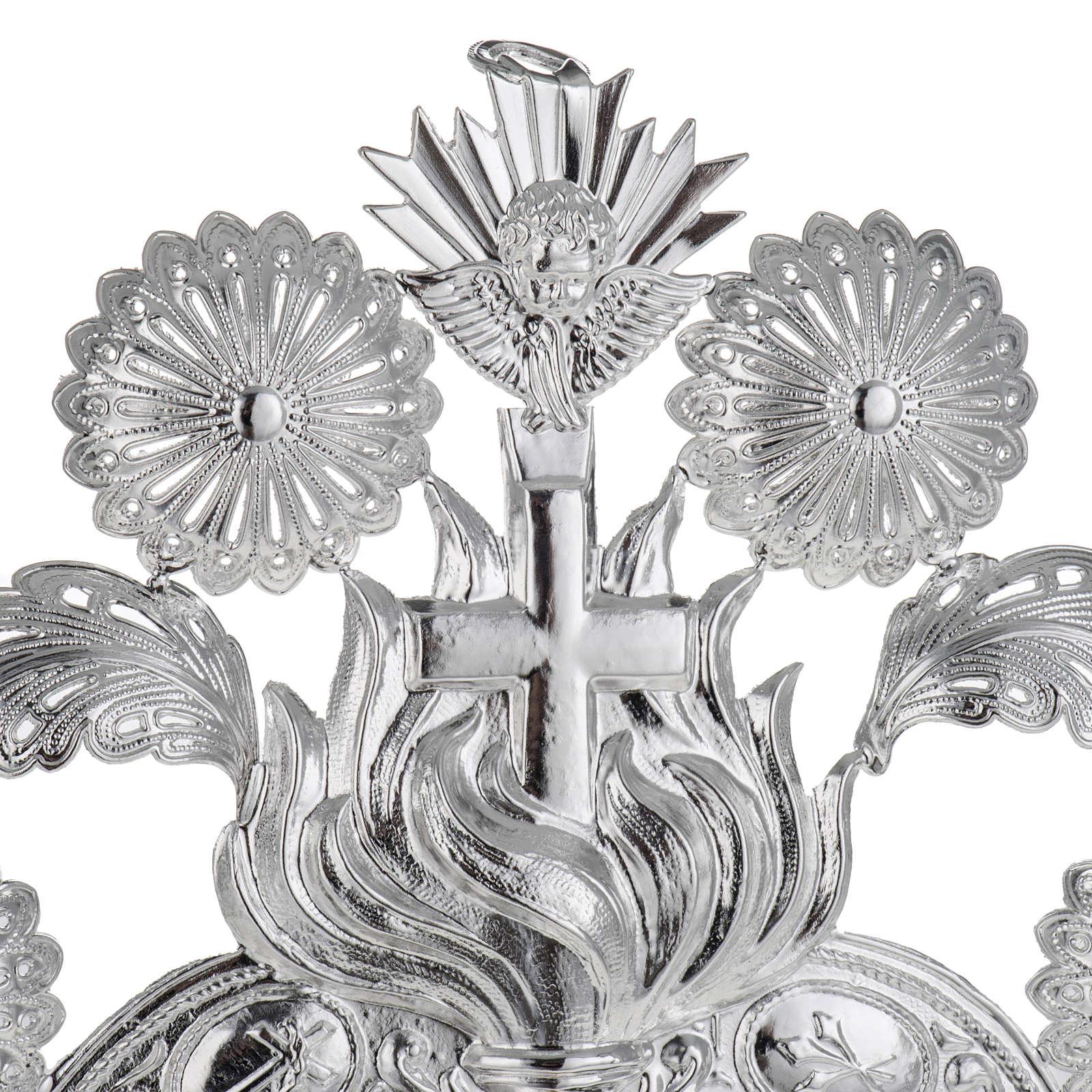Ex voto Cuore fiamma angelo decori 22,5x34 cm 3