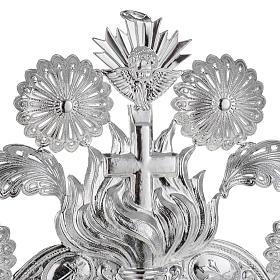 Ex voto Cuore fiamma angelo decori 22,5x34 cm s3
