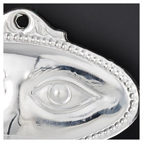 Ex-voto, polished eyes in sterling silver or metal 8.5x4.5cm s2