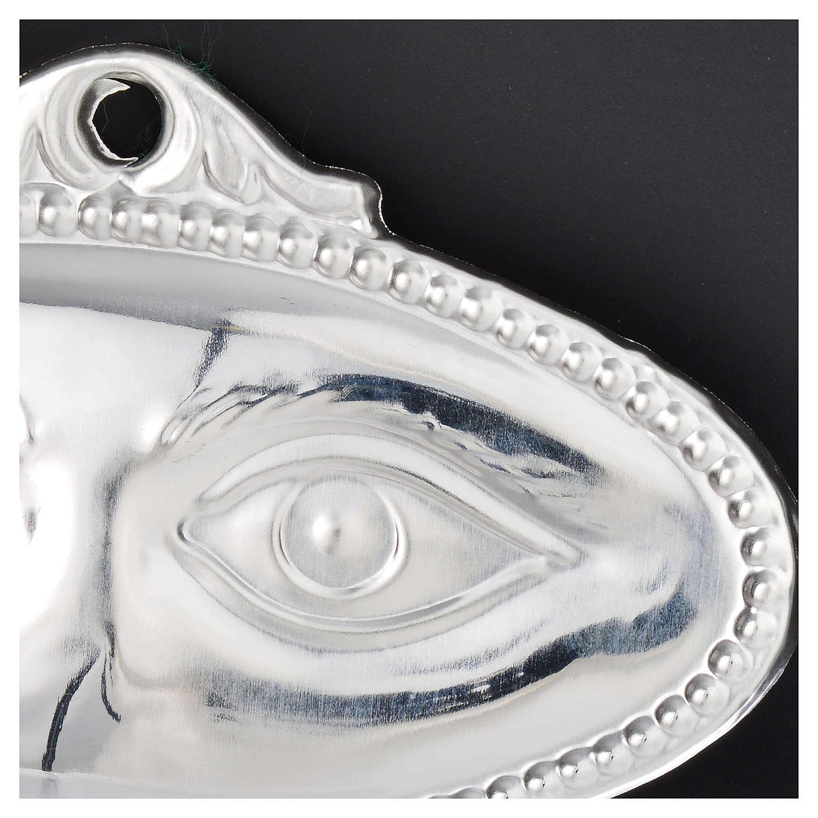 Ex voto occhi lisci argento 925 o metallo 8,5x4,5 cm 3