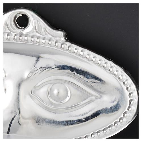 Ex voto occhi lisci argento 925 o metallo 8,5x4,5 cm 2