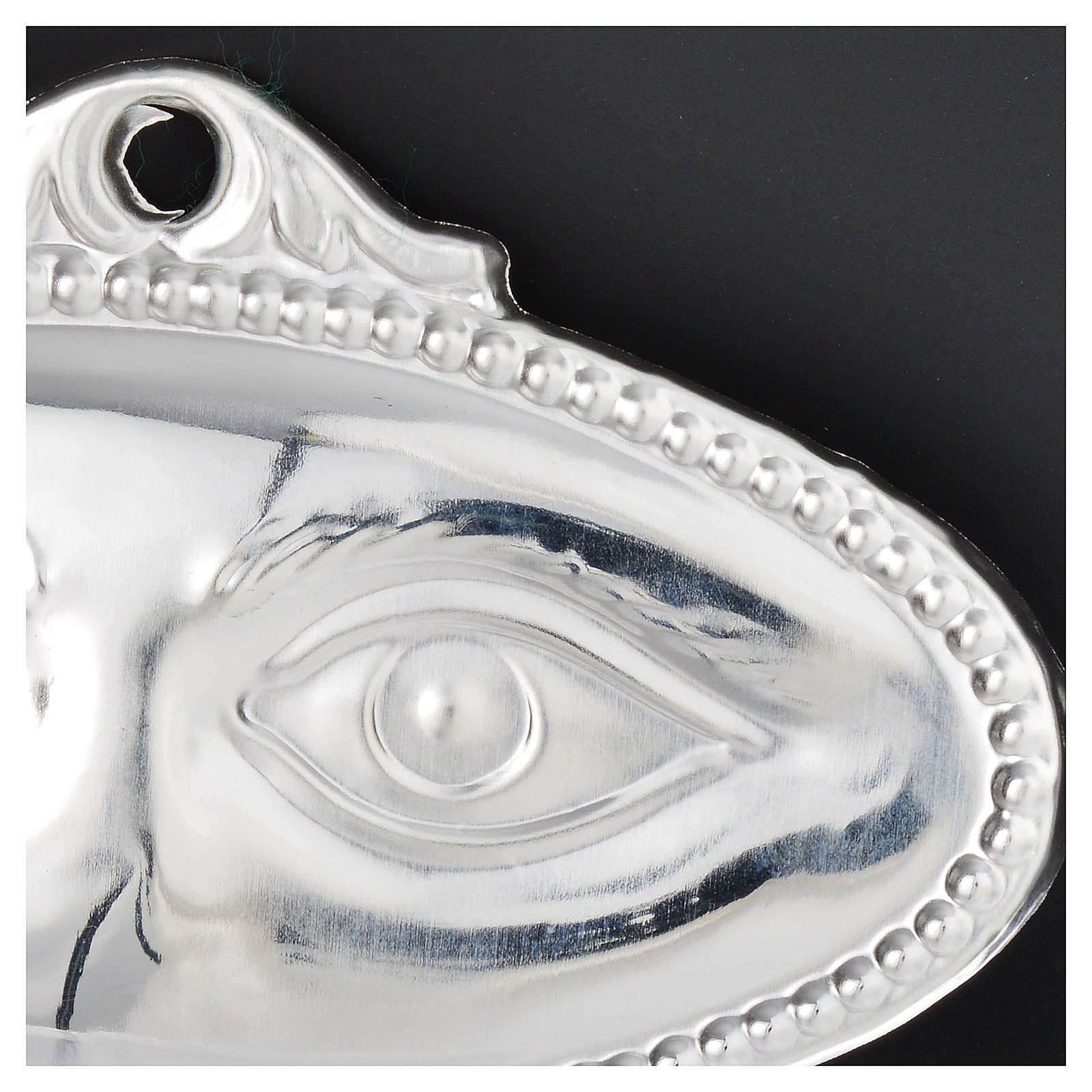 Ex-voto, polished eyes in sterling silver or metal 8.5x4.5cm 3