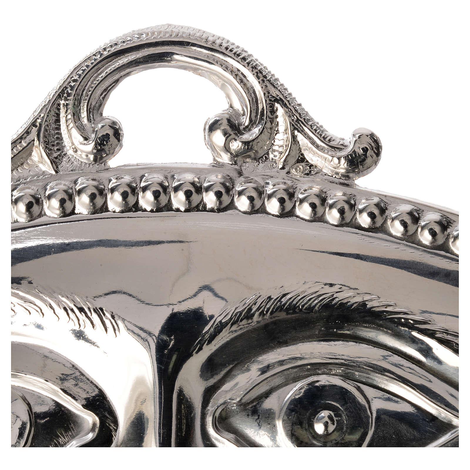 Ex-voto ojos plata 925 o metal 11 x 5.5 cm. 3