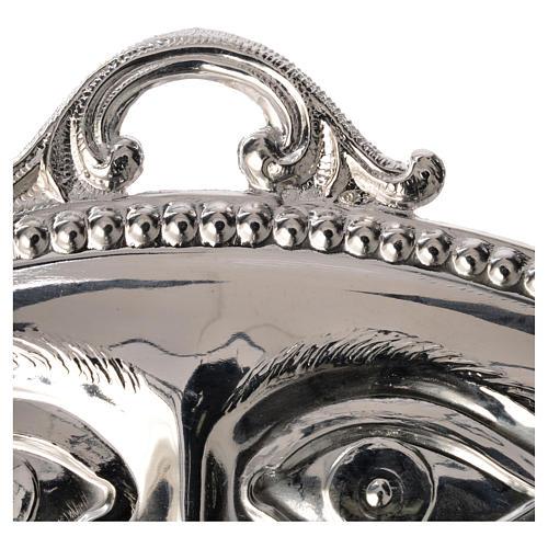 Ex voto occhi lisci argento 925 o metallo 11x5,5 cm 2