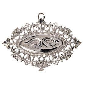 Ex-voto yeux perforés  argent 925 ou métal 13x8 cm s1