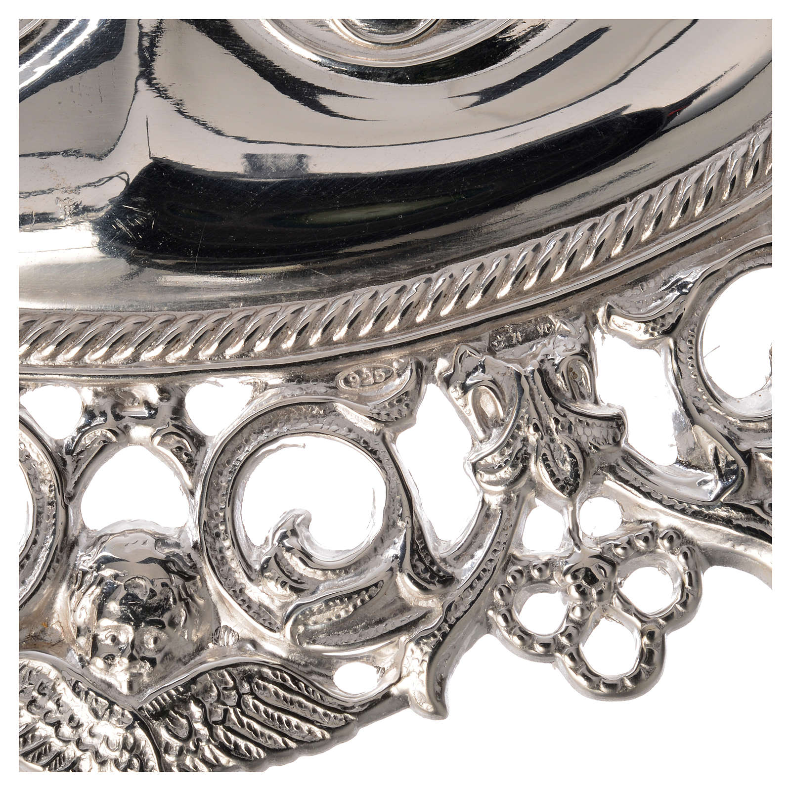 Ex voto occhi traforati argento 925 o metallo 13x8 cm 3