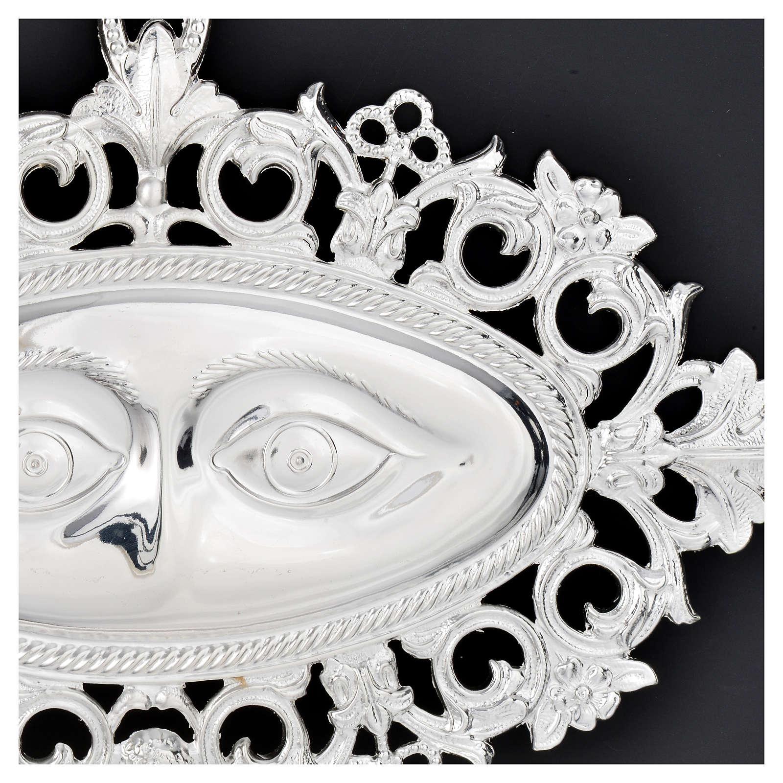 Ex voto occhi traforati argento 925 o metallo 19x11 cm 3