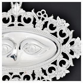 Ex voto occhi traforati argento 925 o metallo 19x11 cm s2