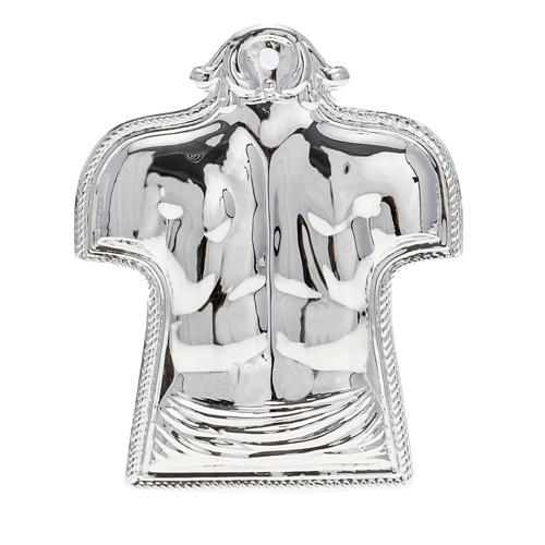 Ex-voto, back and shoulders in sterling silver or metal 1