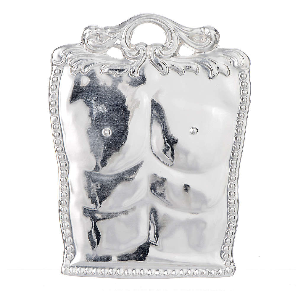 Ex-voto, chest in sterling silver or metal 3
