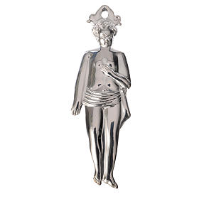 Ex-voto, child in sterling silver or metal, 12.5cm s1