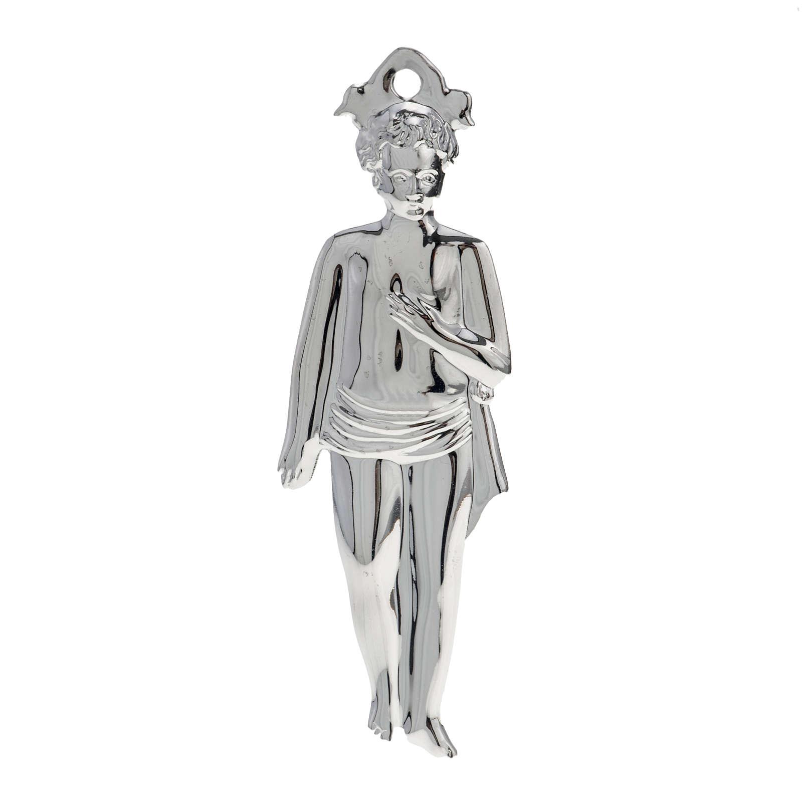 Ex voto bambino argento 925 o metallo 15 cm 3