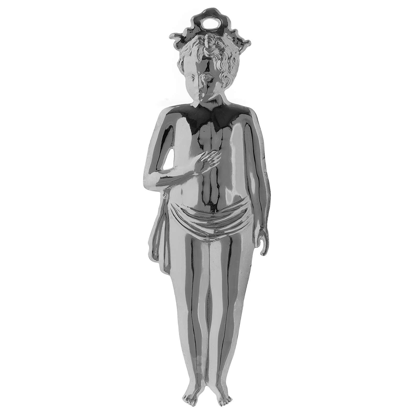 Ex-voto Menino Prata 925 ou Metal 15 cm de altura 3