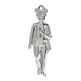 Ex-Voto: Ex-voto, young boy in sterling silver or metal, 15cm