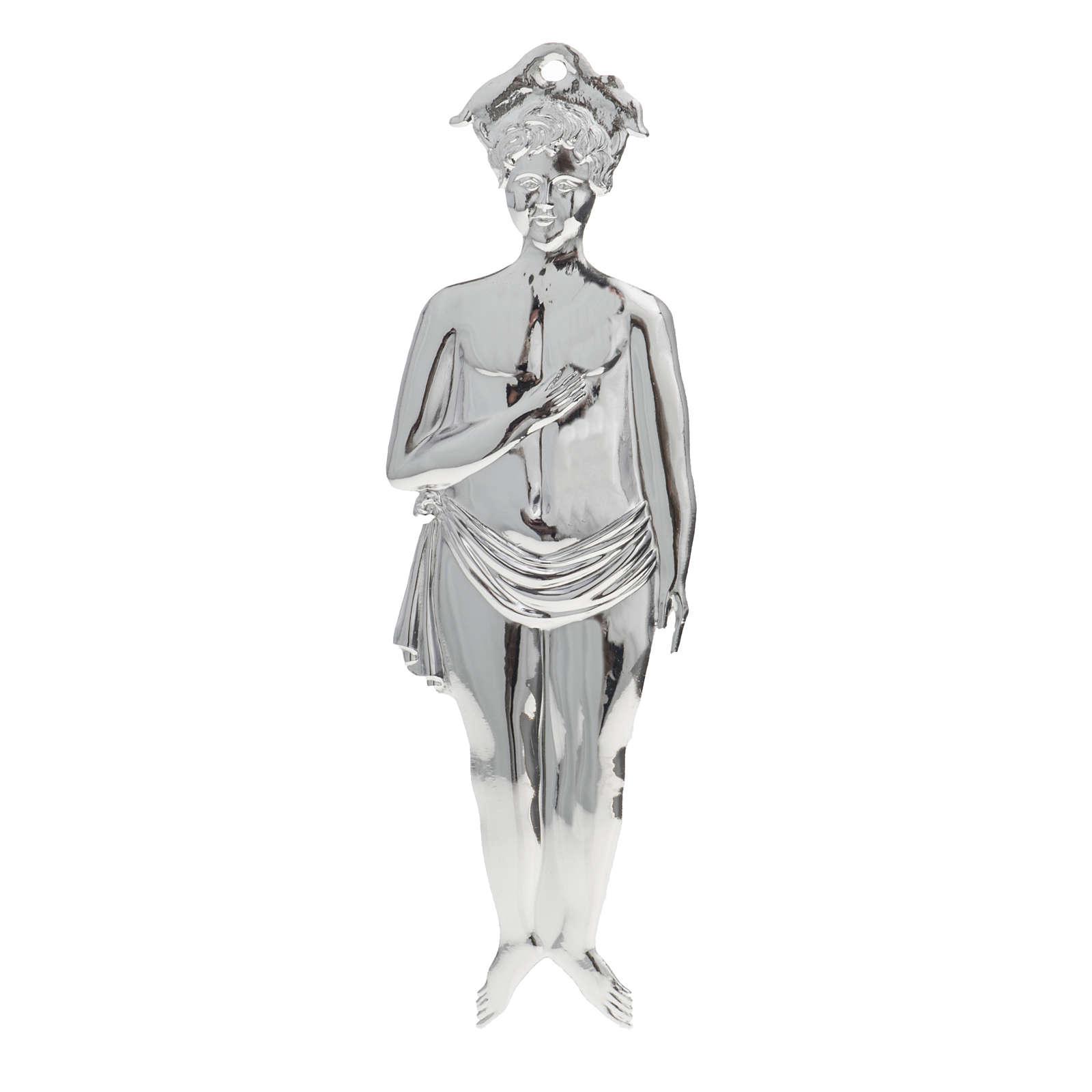 Ex voto bambino argento 925 o metallo 19 cm 3