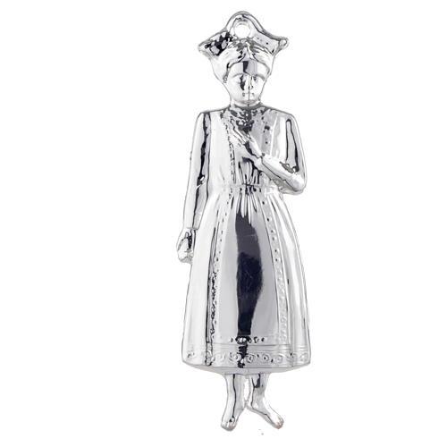 Ex voto bambina argento 925 o metallo 15 cm 1