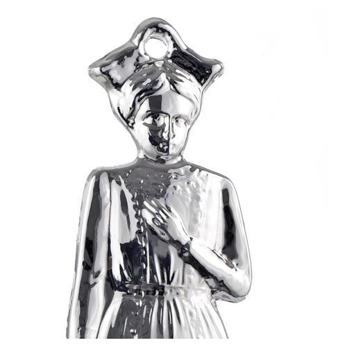 Ex voto bambina argento 925 o metallo 15 cm 2