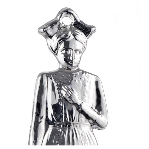 Ex-voto, young girl in sterling silver or metal, 15cm 2