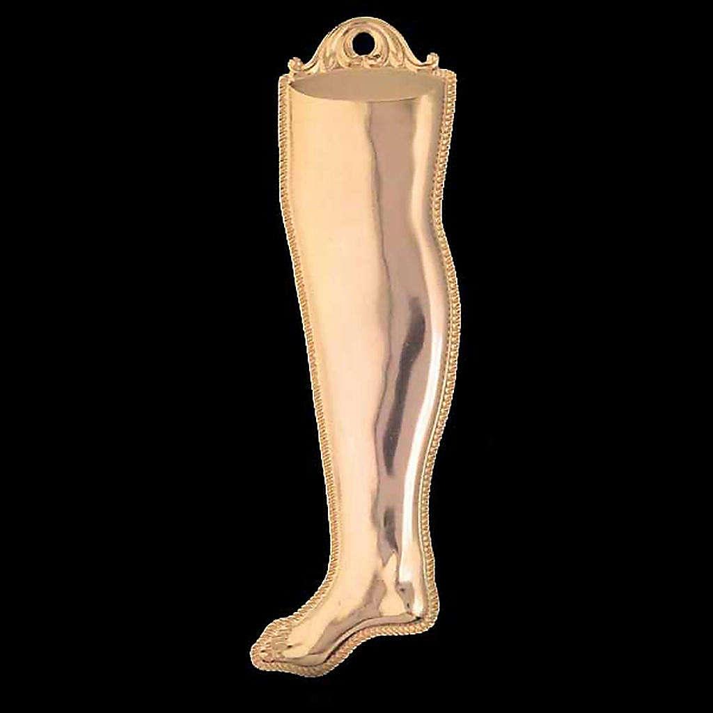 Ex voto gamba argento 925 o metallo 20 cm 3