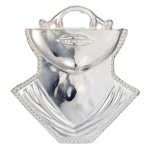 Ex-voto, throat in sterling silver or metal, 11x12cm 1