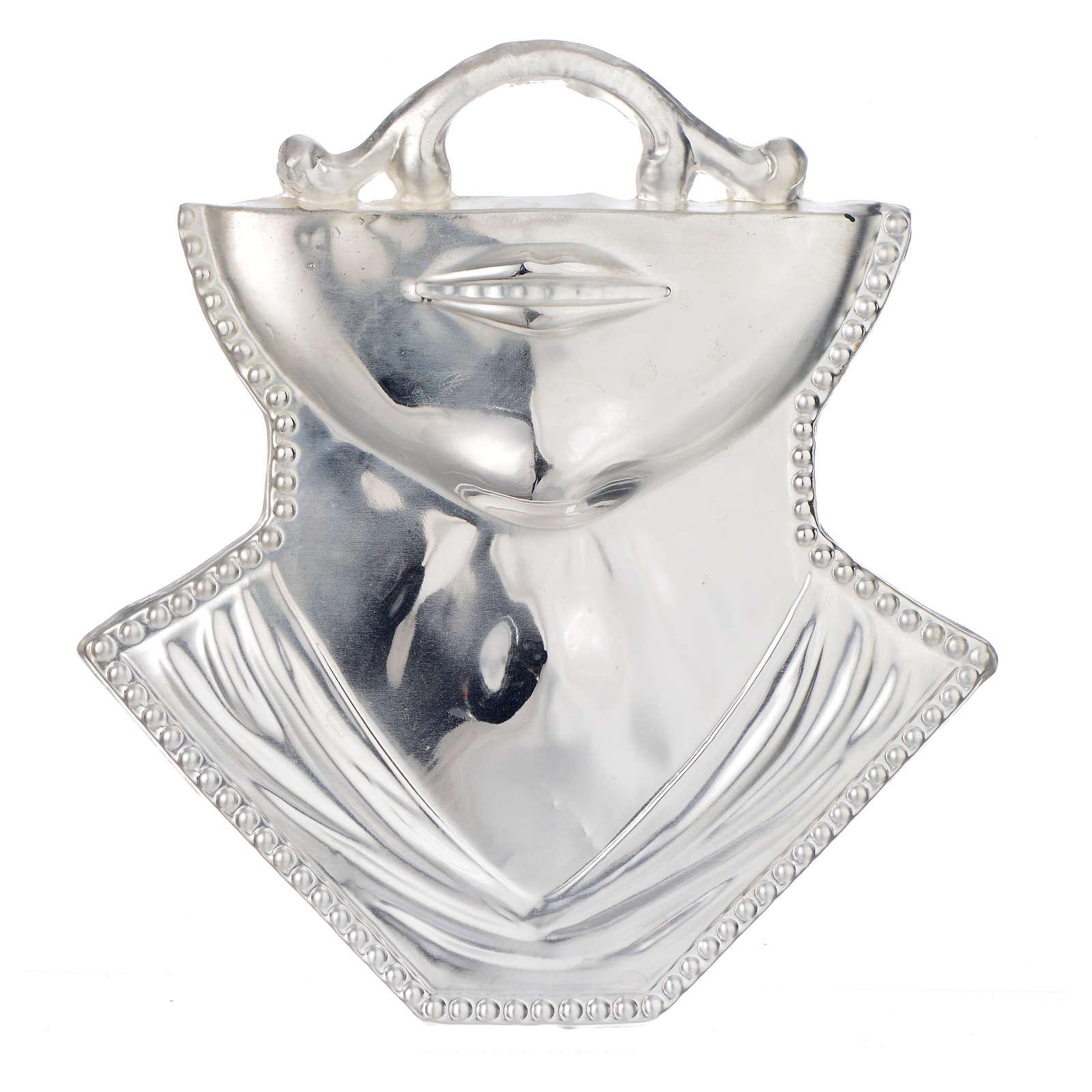 Ex voto gola mento argento 925 o metallo 11x12 cm 3