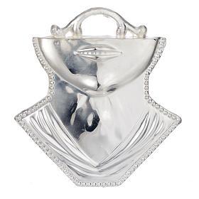 Ex voto gola mento argento 925 o metallo 11x12 cm s1