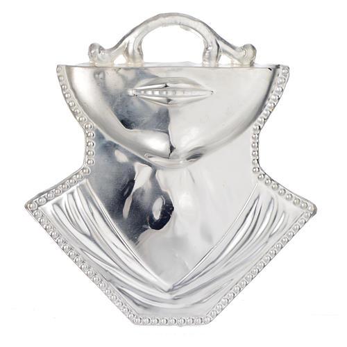 Ex voto gola mento argento 925 o metallo 11x12 cm 1