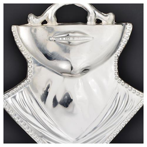 Ex voto gola mento argento 925 o metallo 11x12 cm 2