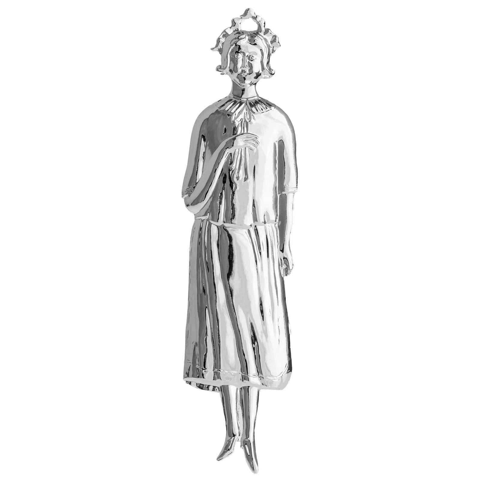 Ex-voto, woman in sterling silver or metal, 20cm 3