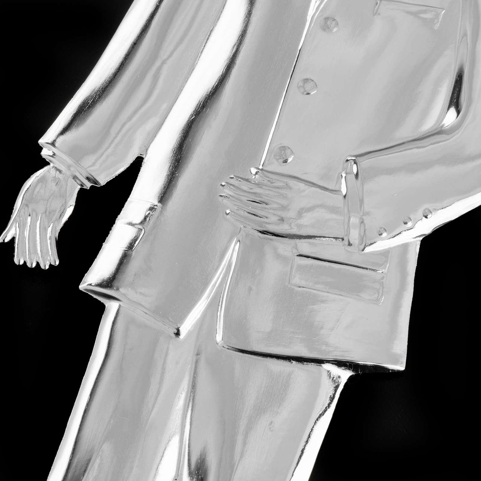 Ex-voto, man in sterling silver or metal, 21cm 3