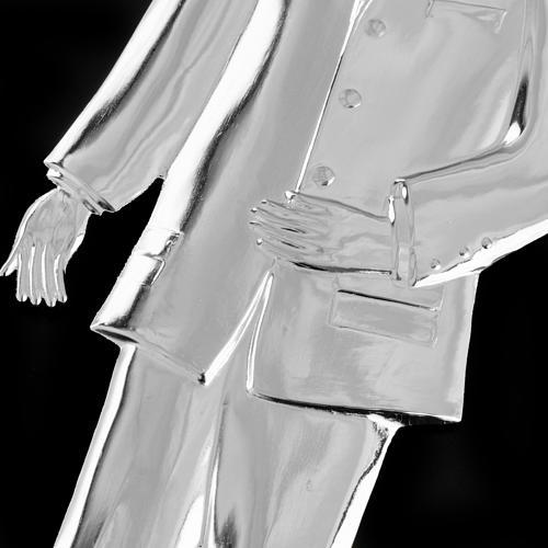 Ex-voto, man in sterling silver or metal, 21cm 2