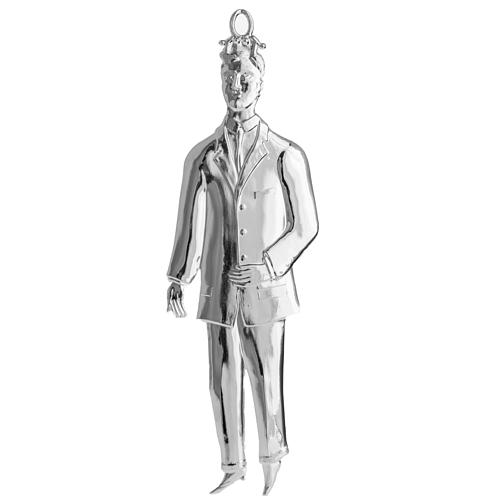 Ex-voto, man in sterling silver or metal, 21cm 1