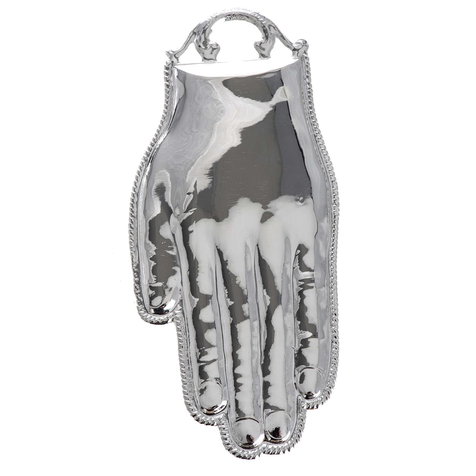 Ex voto mano argento 925 o metallo 12 cm 3