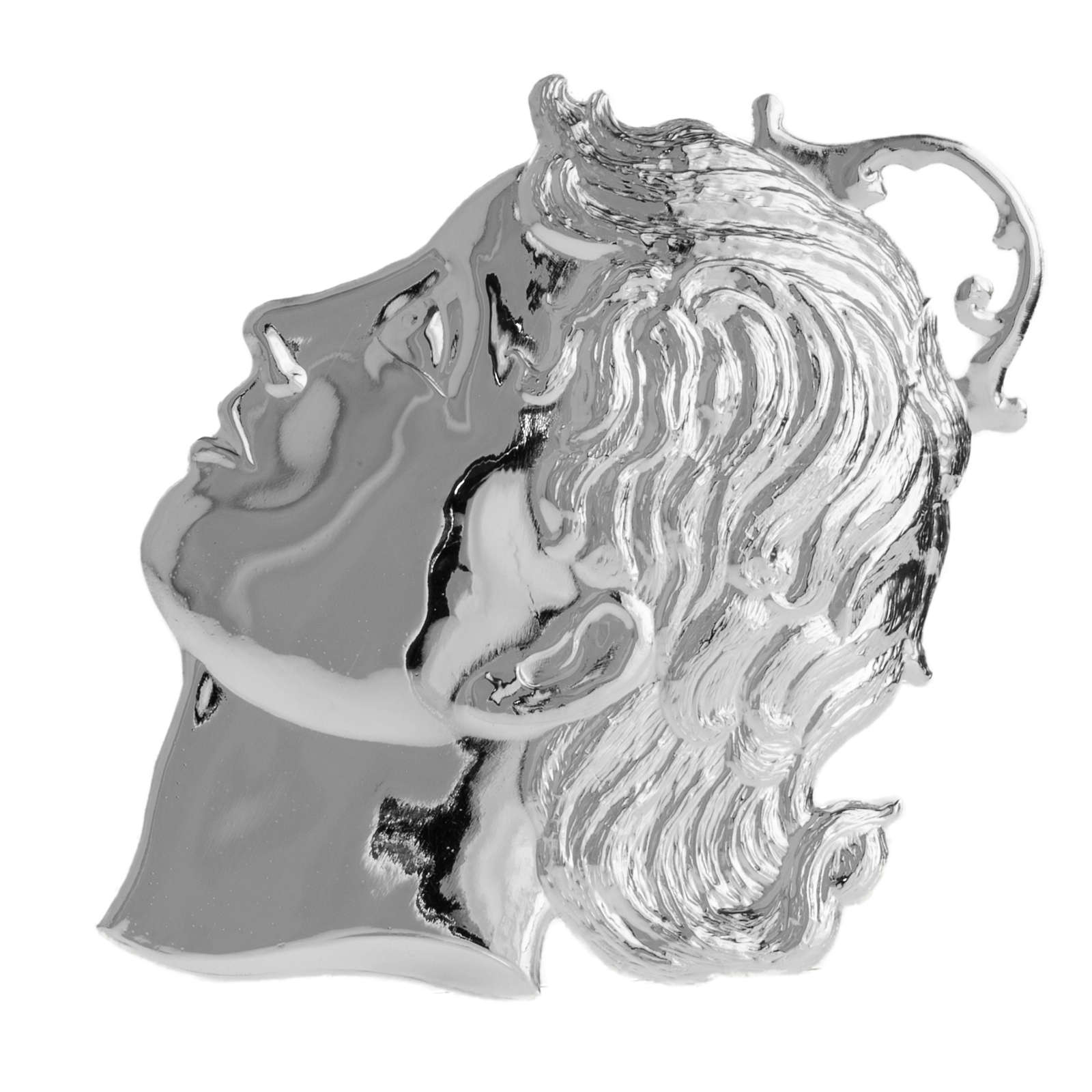 Ex-voto, child's head in sterling silver or metal 12cm 3