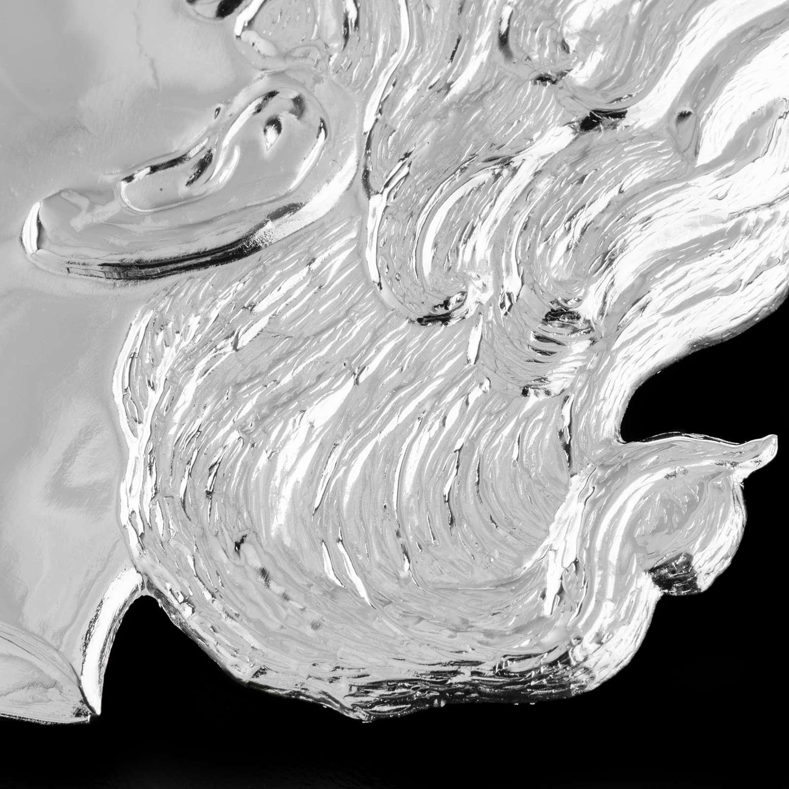 Ex-voto cabeza de niño plata 925 o metal 12 cm. 3
