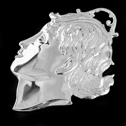 Ex-voto cabeza de niño plata 925 o metal 12 cm. 2