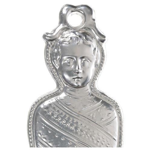 Ex voto bambino in fasce argento 925 o metallo 15 cm 2