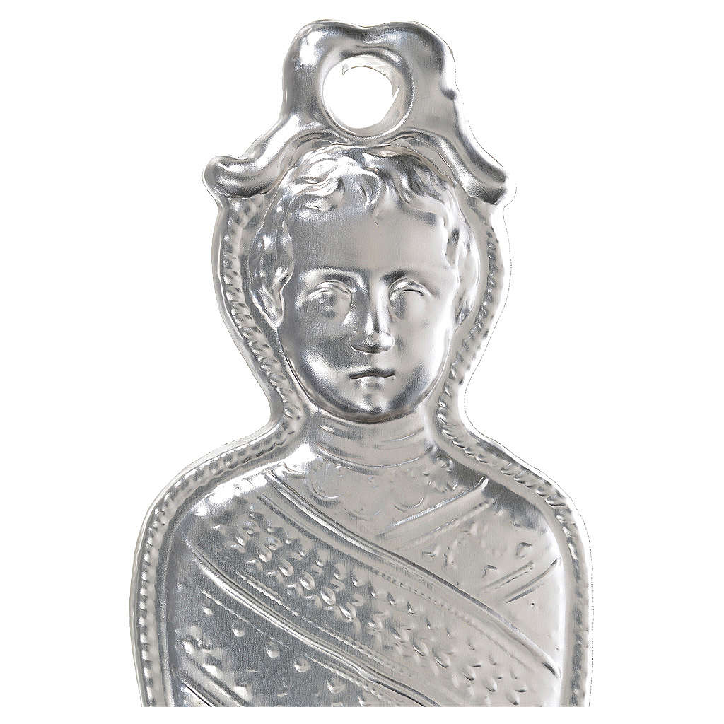 Ex-voto, infant in sterling silver or metal, 15cm 3