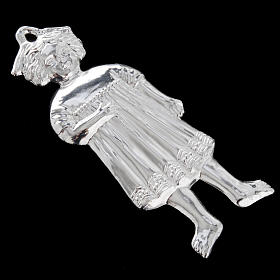 Ex-voto, little girl in sterling silver or metal, 13cm s7
