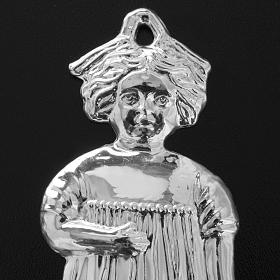 Ex-voto niña antigua plata 925 o metal 13 cm. s6