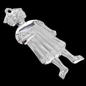 Ex voto bambina antica argento 925 o metallo 13 cm s7
