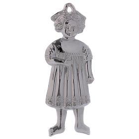 Ex-voto menina de pé prata 925 ou metal 13 cm s1