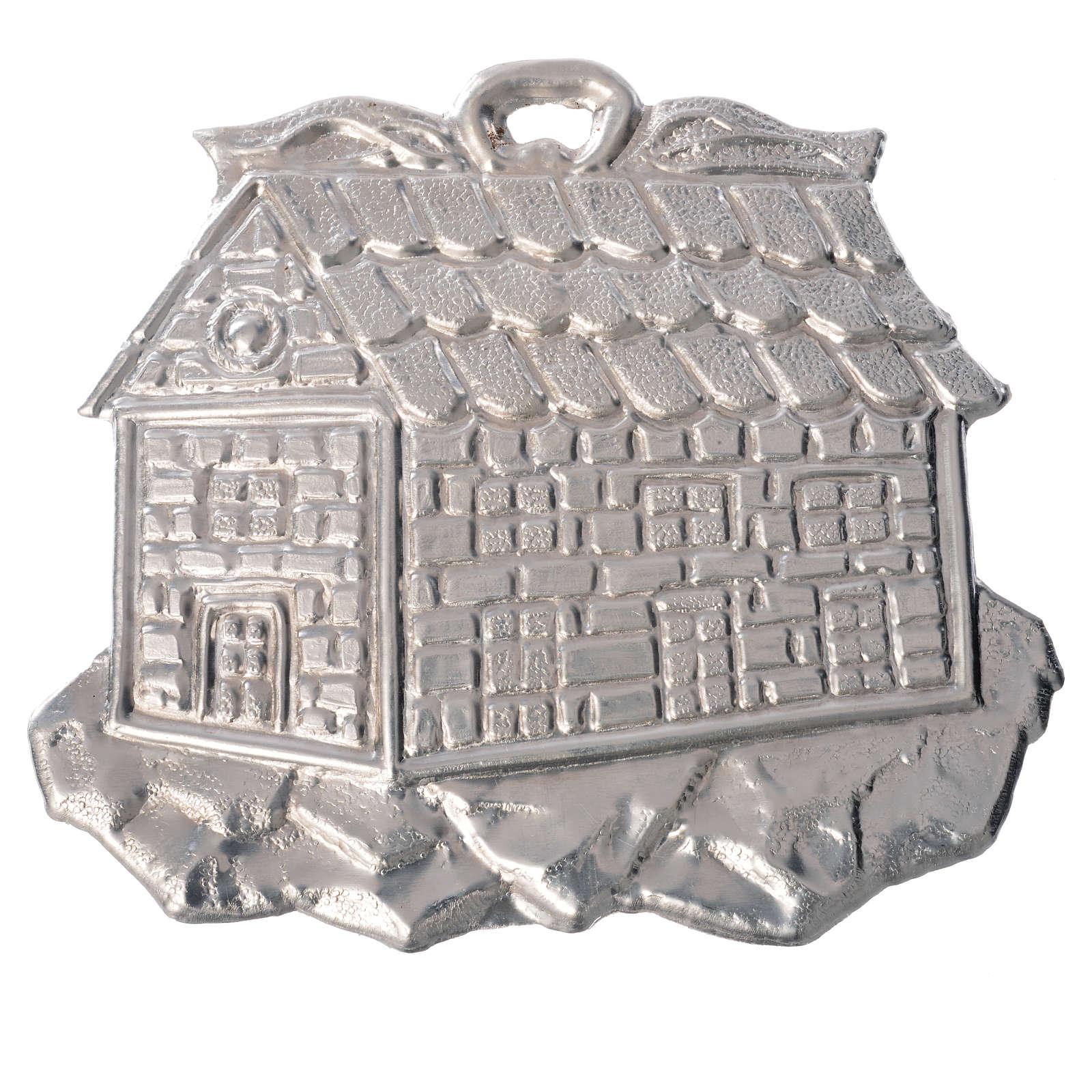 Ex voto en forme de maisonen argent 925 ou métal 8.5x10 c 3