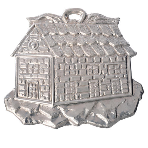 Votivo casetta ex voto argento 925 o metallo 8,5x10 cm 1