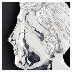 Ex-voto, man head in sterling silver or metal, 13cm s2