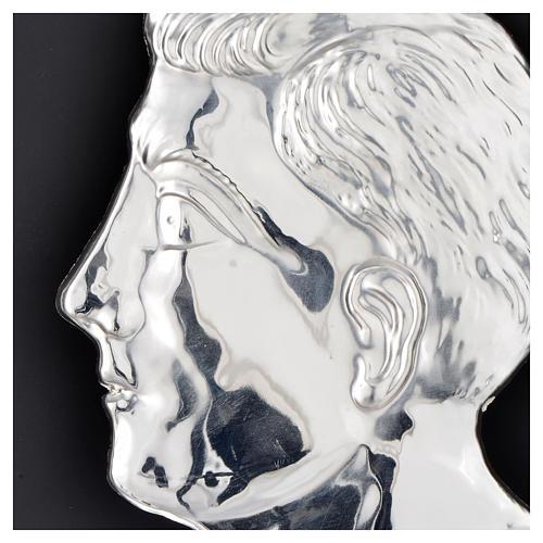 Ex voto testa di uomo argento 925 o metallo 13 cm 2