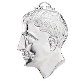 Ex-voto, male head in sterling silver or metal 15cm s1