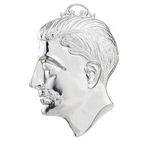 Ex voto testa di uomo argento 925 o metallo 15 cm s1